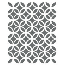 Circle Lattice Stencils -small scale- Template for Crafting Canvas DIY decor