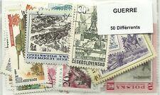 """Lot timbres thematique """"guerres"""""""