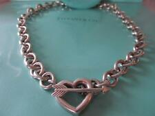 Tiffany & Co. Heart ~Arrow Toggle Sterling Silver Necklace