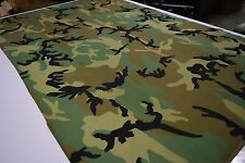 "2NDS FABRIC 1/2 YARD WOODLAND 330D COATED CORDURA MILITARY CAMO 60"" WIDE DWR"