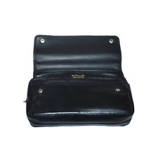 Real Leather Dr Plumb 2 Pipe Combination Tobacco Pouch