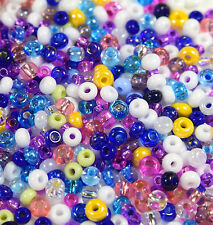 "Czech Glass Seed Beads Size 6/0-8/0 "" ASSORTED MEDLEY CARNIVAL "" Loose 50 Grams"