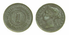 pcc1442_8) British Commonwealth - Straits Settlements 1 Cent 1897