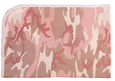 infant receiving blanket pink camo 100% cotton infant baby rothco 2451