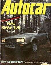 1984 AUTOCAR MAGAZIN 21.1 BMW 318I CITROËN FORD ESCORTS ENGLISH