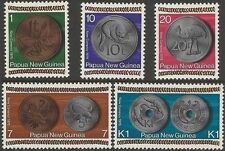 Papua New Guinea 1975 NEW CURRENCY, COINS (5) Unhinged Mint SG 281-5