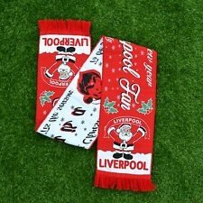 SANTA IS A LIVERPOOL FAN FOOTBALL SCARF CHRISTMAS GIFT