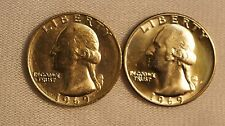 1969-P-D Washington Quarters 2 Coin Year Set- 25C