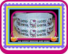 1 INCH HELLO KITTY HAPPY EASTER GROSGRAIN RIBBON- 1 YD