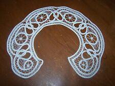Antique Large Edwardian Victorian Battenburg Tape Lace Collar- ECRU- Exquisite!