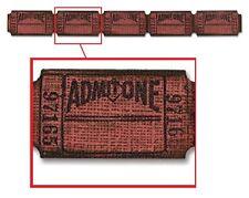 Tim Holtz Alterations Decorative Strip Die - Ticket Strip, Tickets
