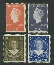 NVPH 504-507 Jubileum Kon.Wilhelmina + Inhuldiging Kon.Juliana 1948 postfris