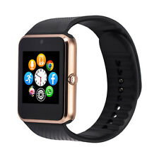 Gold 2017 Model GT08 Phone Watch Made Connects to Apple iPhone such as iPhone 7
