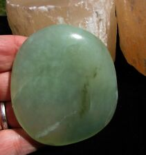 JADE Polished Palm Stone ~ Release Negative Thoughts, Helps with Ideas