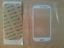 Cristal de Pantalla Tactil Blanca para Samsung Galaxy S3 SIII I9300 + Adhesivo