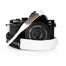 Padded Neck Shoulder Strap with White Grosgrain Ties Fujifilm Sony Nikon Canon..