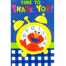 SESAME STREET Time to Thank You NOTES (8) ~ Birthday Party Supplies Stationery
