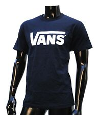 Vans Skateboard Co. Classic Logo Navy/White Mens T shirt Size Large