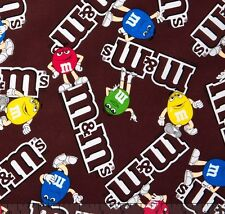 "Mars M&M's Logo 100% cotton 44"" wide fabric by the yard"