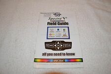 METAL DETECTOR BOOK ~ WHITE'S ~ SPECTRA V3 ~ FIELD GUIDE ~ NEW OLD STOCK