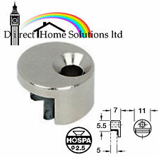 2 MIRROR CLIPS FIXINGS FITTINGS ROUND SILVER NICKEL PLATED FREE P&P