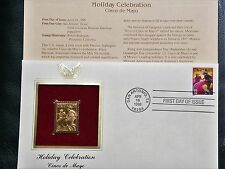 22K Gold 1998 Cinco de Mayo Gold Proof Stamp Replica 1st Day Cover NO Address