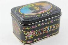 Vintage Singer Sewing Machine Rainbow Colored Tin Super Rare Needle Holder