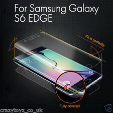 Full Front Screen Soft Protector Film cover for Samsung S6 Edge Fits Curved Edge