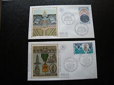 FRANCE - 2 enveloppes 1er jour 1974 (hotel invalides/ordre libera) (cy78)french