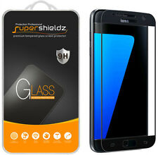 Supershieldz- Tempered Glass Screen Protector For Samsung Galaxy S7 (Black)