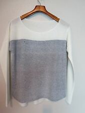 $325 New VINCE Fine Cashmere Colorblock Marled Shirt tail Sweater XSmall (3576)