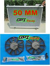 50 MM GPI NEW Aluminum Radiator +FAN for Nissan Pintara Skyline R31