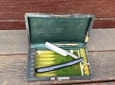 Antique Weck NY 7 Day Straight Razor Case with One Weck Solingen Germany Razor
