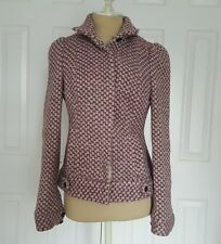 Plenty Tracy Reese Anthropologie Purple Checkered Coat Jacket size 4 in GUC.