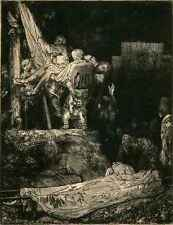 A3 Box Canvas Rembrandt Descent from the Cross by Torchlight SIL