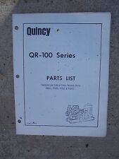 1973 Quincy QR-100 Series Conservation Single State Air Compressor Parts List R