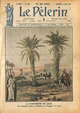 Fortress of Gaza City Palestine Egypt Egypte Forteresse Oasis 1920 ILLUSTRATION