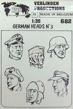 Verlinden 1/35 German Soldier Heads Set No.3 WWII (6 heads) [Resin Figure] 682