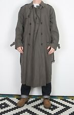 "London Fog Impermeabile MAC Cappotto Giacca 38"" Marrone Piccolo Medio (23a) con Fodera"