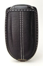 Universal Cell Phone Flip Leather Case fits most Prepaid Phones - Black, New