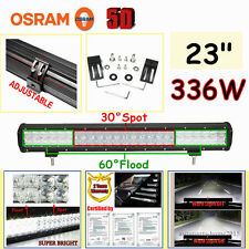 "OSRAM 5D 336W 23""INCH Combo LED Work Light Bar Driving Lamp Offroad 4WD Pick-up"