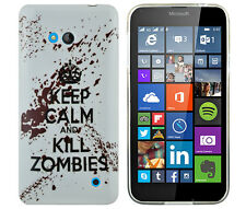 Hülle f. Nokia Lumia 640 DUAL-SIM Schutzhülle Tasche Case Keep Calm Kill Zombies