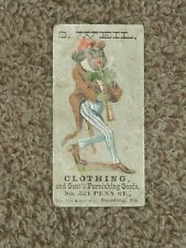 Vintage Victorian Advertising Card S. WEIL Clothing Reading, PA BLACK AMERICANA