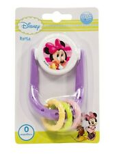 Disney Minnie Mouse Rattle Toy Teether New Born Baby 0 Months +