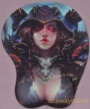 World of Warcraft WOW Warlock Sexy Girl Breast Mouse Pad Wrist Rest Gift