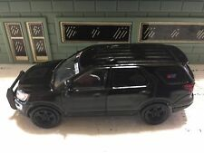 GREEN LIGHT POLICE FORD INTERCEPTOR UTILITY BLACK BANDIT SLICK TOP CUSTOM UNIT