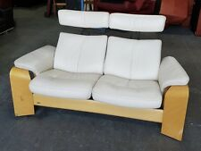 RRP £2000 Ekornes Stressless Reclining Seats/Headrests Leather Sofa.WE DELIVER