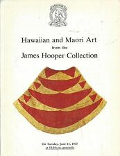 CHRISTIE'S OCEANIC HAWAII MAORI Art Hooper Collection Auction Catalog 1977