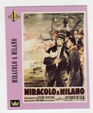 Figurina SUPERCINEMA EVENTS MAXI CARDS NUMERO 83 MIRACOLO A MILANO