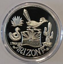 Arizona Snowbird Country 1 Troy Oz .999 Fine Silver Collectible Coin Token Round